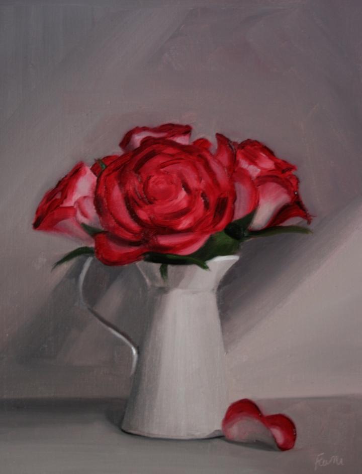 roses-in-jug-oil-board-30x25cm-£550