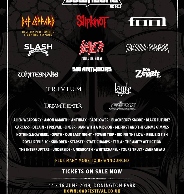 The Download Festival line-up so far… – York Calling