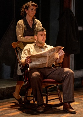 Nicholas Karimi (Eddie) and Laura Pyper (Beatrice) in A View from the Bridge. Photo by Ian Hodgson (1)