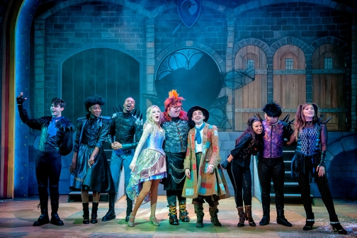Suzy Cooper, Howie Michaels & Jack Lansbury and the Ensemble in Sleeping Beauty at York Theatre Royal. Photo Robing Photography