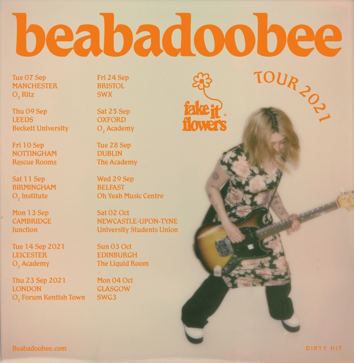 Beabadoobee - Fake It Flowers Tour Poster